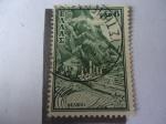 Stamps Greece -  Templo de Apolo, Delphia - Sitio Arqueológico - Patrimonio de la Humanidad-Unesco 1987.
