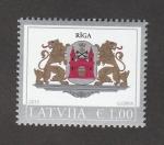 Stamps : Europe : Latvia :  Escudo de Riga
