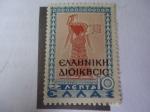 de Europa - Grecia -  Señora de la Corte de Tiryns-Administración Helénico- Región de Epiro Norte, 1914 (Albania del Sur)-
