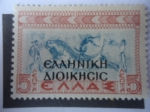 Sellos de Europa - Grecia -  Carrera de Toros-Tauromaquia - Minoan- Civilización Minoica