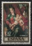 Sellos de Europa - España -  La Virjen con los niños Jesus y Juan
