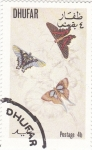 Sellos del Mundo : Asia : Omán : mariposa- metamorfosis