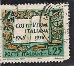 Sellos de Europa - Italia -  Constitucion Italiana