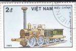 Stamps : Asia : Vietnam :  150 aniversario.Tracción a Vapor
