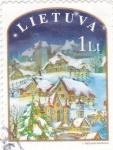 Stamps : Europe : Lithuania :  PAISAJE INVERNAL