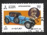 Sellos del Mundo : Asia : Afganistán : Automóviles, Bugatti Tipo 43 coche deportivo (1927) y Ettore Bugatti