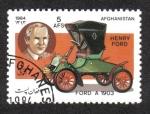 Sellos del Mundo : Asia : Afganistán : Automóviles, Ford modelo A dos plazas (1903) y Henry Ford