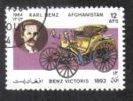 Sellos de Asia - Afganistán -  Automóviles, Benz Viktoria biplaza (1893) y Karl Benz