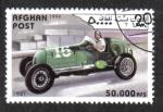 Sellos de Asia - Afganistán -  Coches de carreras de época