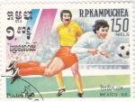 Stamps Cambodia -  COPA MUNDIAL MEXICO´86
