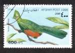 Stamps : Asia : Afghanistan :  Pájaros, Knysna Turaco (Tauraco corythaix)