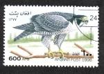 Stamps : Asia : Afghanistan :  Pájaros, Halcón Peregrino (Falco peregrinus)