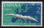 Stamps Spain -  XII Campeonato europeo d´natacion, saltos, y waterpolo