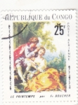 Stamps : Africa : Republic_of_the_Congo :  PINTURA-LA PRIMAVERA
