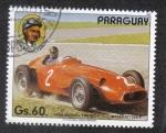 Sellos del Mundo : America : Paraguay : Piloto de Fórmula 1, Juan Manuel Fangio, Maserati 250 F