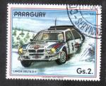 Sellos del Mundo : America : Paraguay : Coches de rally, Lancia Delta S4