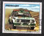 Sellos del Mundo : America : Paraguay : Coches de rally, Fiat 131