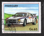 Stamps : America : Paraguay :  Coches de rally, Lancia Rally