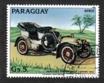 Stamps : America : Paraguay :  Antiguos automóviles, Mercedes Simplex 32 hp (1902)