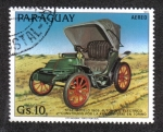 Stamps : America : Paraguay :  Antiguos automóviles, Electric car STAE, 1909