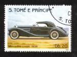 Stamps São Tomé and Príncipe -  Automóviles, Mercedes Coupé 1936