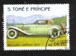 Stamps Africa - São Tomé and Príncipe -  Automóviles, Mercedes Cabriolet 1924