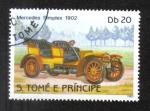 Stamps Africa - São Tomé and Príncipe -  Automóviles, Mercedes Simplex 1902