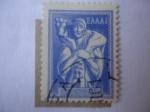Stamps Europe - Greece -  Arte Griego Antiguo - Pastor con Becerro.