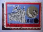 Stamps Asia - Sri Lanka -  Solomon Bandaranaike (1899-1959) - Marcha de la Victoria-Independencia.