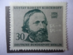 Stamps Europe - Germany -  Gustav Robert kirchhoffe (1824-1879 -Fisico-150 años de su Nacimiento..