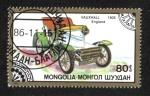 Stamps Asia - Mongolia -  Automóviles Clasicos, 1905 Vauxhall, England