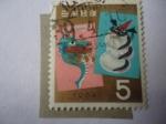 de Asia - Japón -  Hoóscopo Chino - Año del Dragón - Saludos de Año Nuevo 1964.