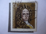 Sellos de Europa - Alemania -  Gottfried Wilhelm Leibniz (1646-1716) Filosofo. Europa-C.E.P.T.