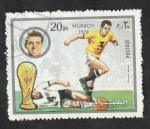 Stamps Asia - United Arab Emirates -  Fujeira - Mundial Fútbol Munich 1974