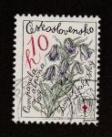 Stamps Europe - Czechoslovakia -  Campanilla alpina