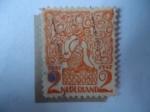 Stamps Netherlands -  Nederland - Representaciones Animales Heráldicos - Serie:Diversas.