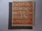 de Europa - Alemania -  Cifras - Alemania Reino-Sello Oficial-Dienstmark, con 21.