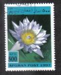 Stamps : Asia : Afghanistan :  Plantas Acuaticas, Lirio azul del agua (Nymphaea capensis)