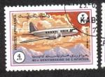 Stamps : Asia : Afghanistan :  40 Aniversario de la Aviación, Ilyushin Il-12