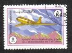 Stamps : Asia : Afghanistan :  40 Aniversario de la Aviación, Tupolev Tu-104A