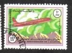 Stamps : Asia : Afghanistan :  40 Aniversario de la Aviación, Ilyushin Il-18
