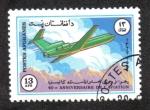 Stamps Afghanistan -  40 Aniversario de la Aviación, Yakovlev Yak-42