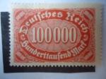 Sellos de Europa - Alemania -  Cifras - Dígitos en Ovalo Transversal.
