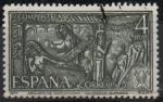 Stamps Spain -  Año Santo Compostelano (Arqueta d´Carlomagno, Aquisgran Alemania)
