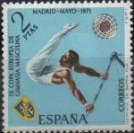 Stamps Spain -  IX Campeonato europeo d´gimnasia masculina (Barra Fija)