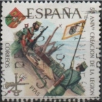 Stamps : Europe : Spain :  L aniversario d´l´Legion (Tercio Gran Capitan)