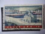 Stamps Greece -  Puerto de Pireo.