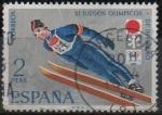 Sellos de Europa - España -  XI Juegos Olimpicos d´Invierno en Sapporo (Salto d´Trampolin)