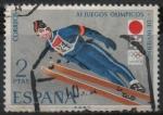 Stamps Spain -  XI Juegos Olimpicos d´Invierno en Sapporo (Salto d´Trampolin)