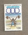 Sellos de Europa - Grecia -  Levantamiento peso